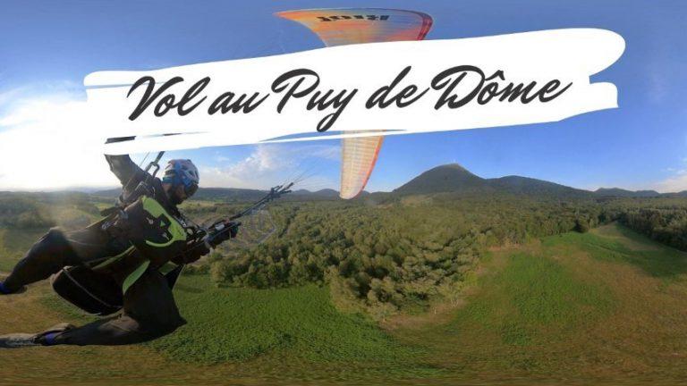 Vol au Puy de Dome en parapente en réalité virtuelle